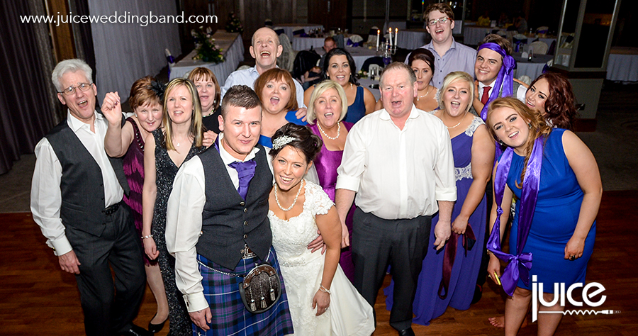 Juice Wedding Band Northern Ireland | pic of Michelle, Martin and their guests