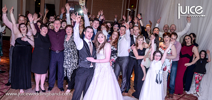 Juice Wedding Band Northern Ireland | pic of Mollie, Walter and their guests