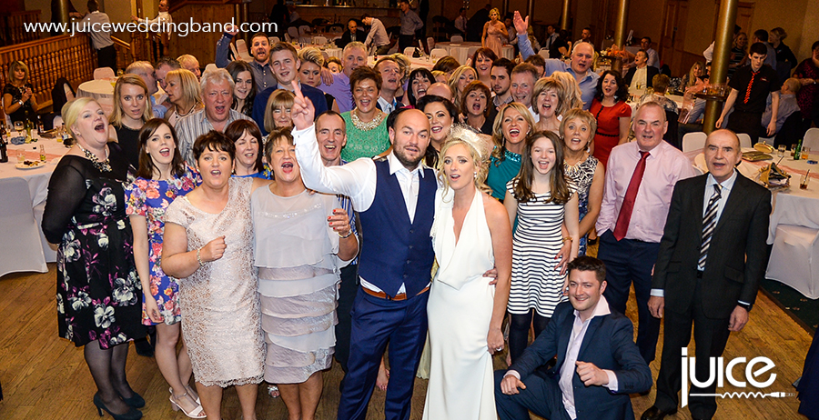 Juice Wedding Band Northern ireland | pic of Donna, Chris and their guests