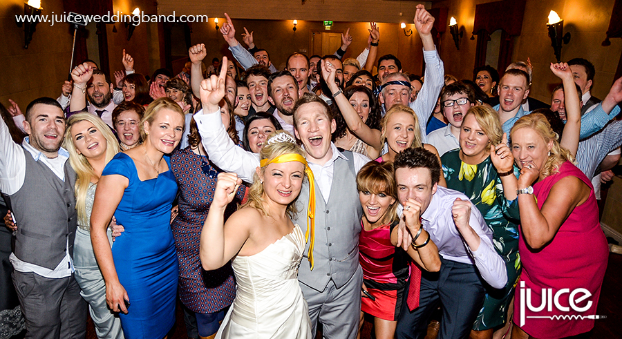 Juice Wedding Band Northern Ireland | pic of Jessie, Damien and their guests