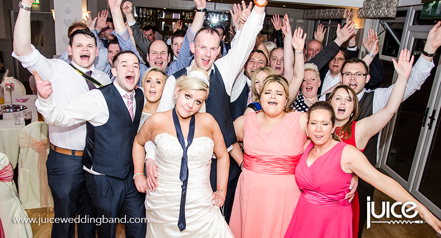 Juice Wedding Band Northern Ireland   pic of Katrina, Russell and their guests