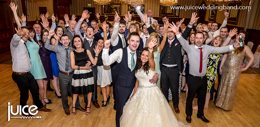 Juice Wedding Band Northern Ireland | pic of Vikki, Sean and their guests