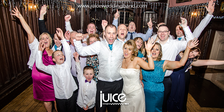 Juice Wedding Band Northern Ireland   pic of Martina, Justin and their guests