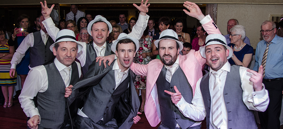 Juice Wedding Band Northern Ireland | pic of Darragh and the uptown funk gang