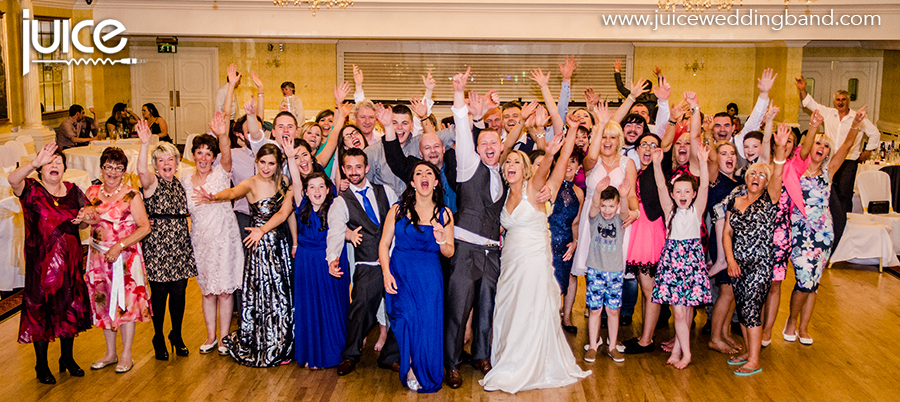 Juice Wedding Band Northern Ireland   pic of Mary, Carl and their guests