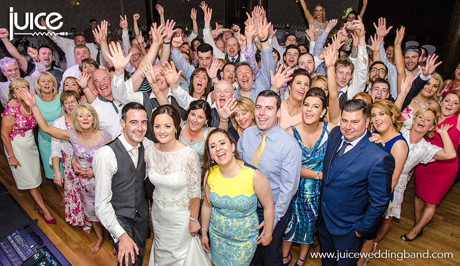 Juice wedding band Northern Ireland | pic of Collette, Conor and their guests