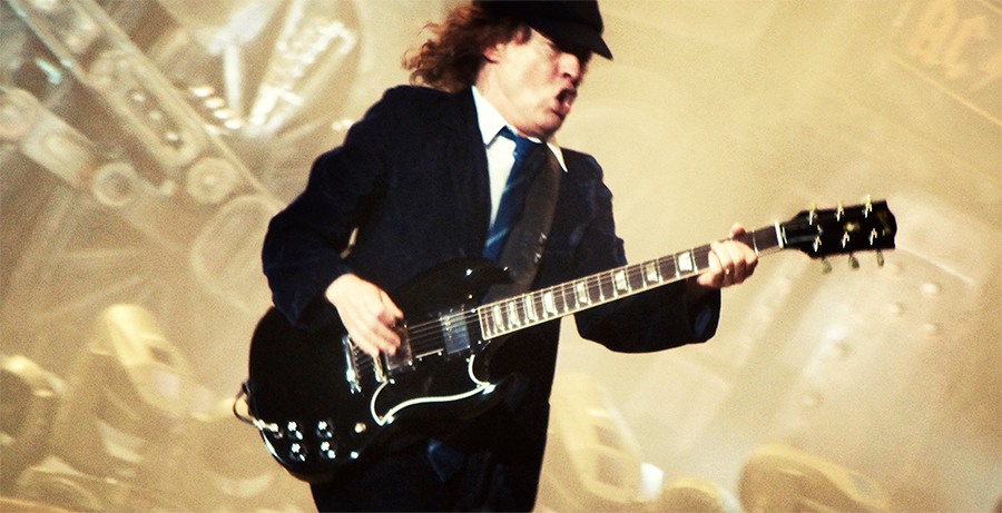 Juice Wedding Band Northern Ireland   pic of Angus Young from AC/DC