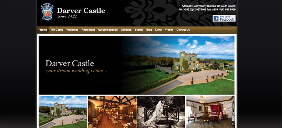 Juice Wedding Band Northern Ireland | screenshot of the Darver Castle website