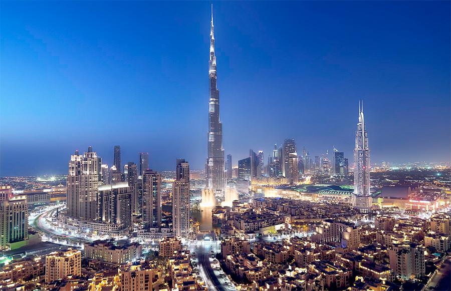 Juice Wedding Band Northern Ireland | pic of the Dubai skyline at night