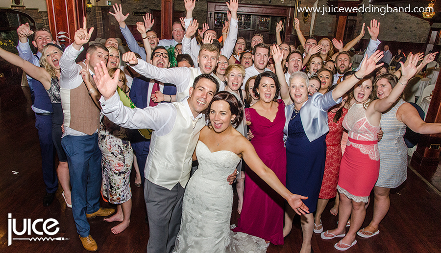 Juice Wedding Band Northern Ireland | pic of Siobhan, Martin and their guests