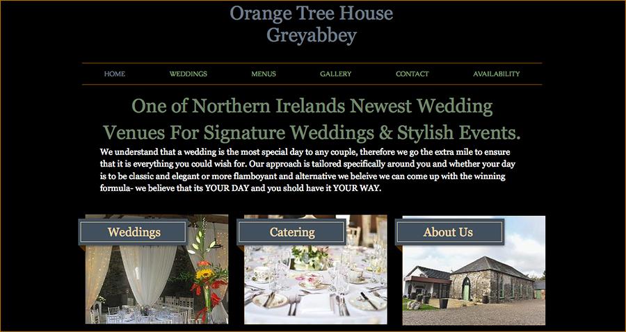 Juice Wedding Band Northern ireland   screenshot of the Orange Tree House Greyabbey website