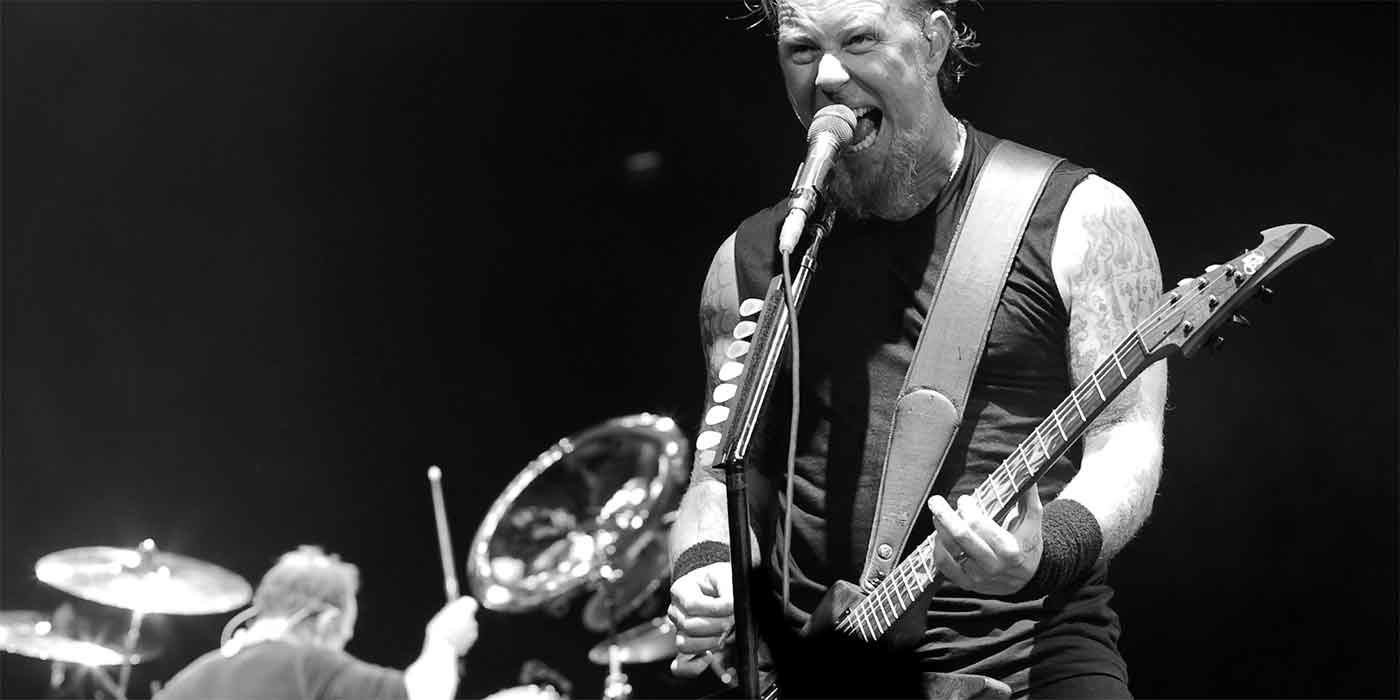 Photo of James and Lars from Metallica
