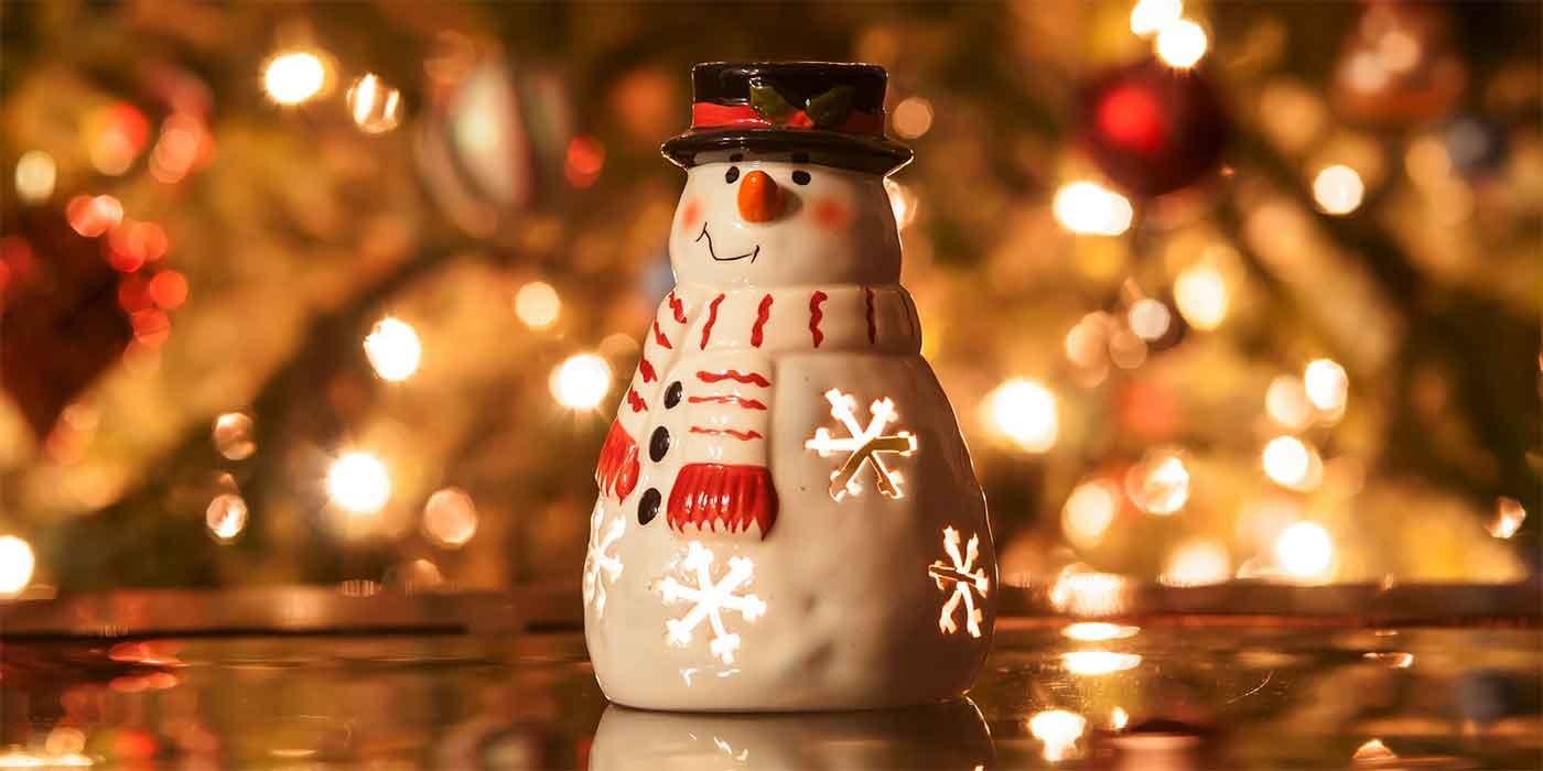 Photo of Christmas snowman ornament