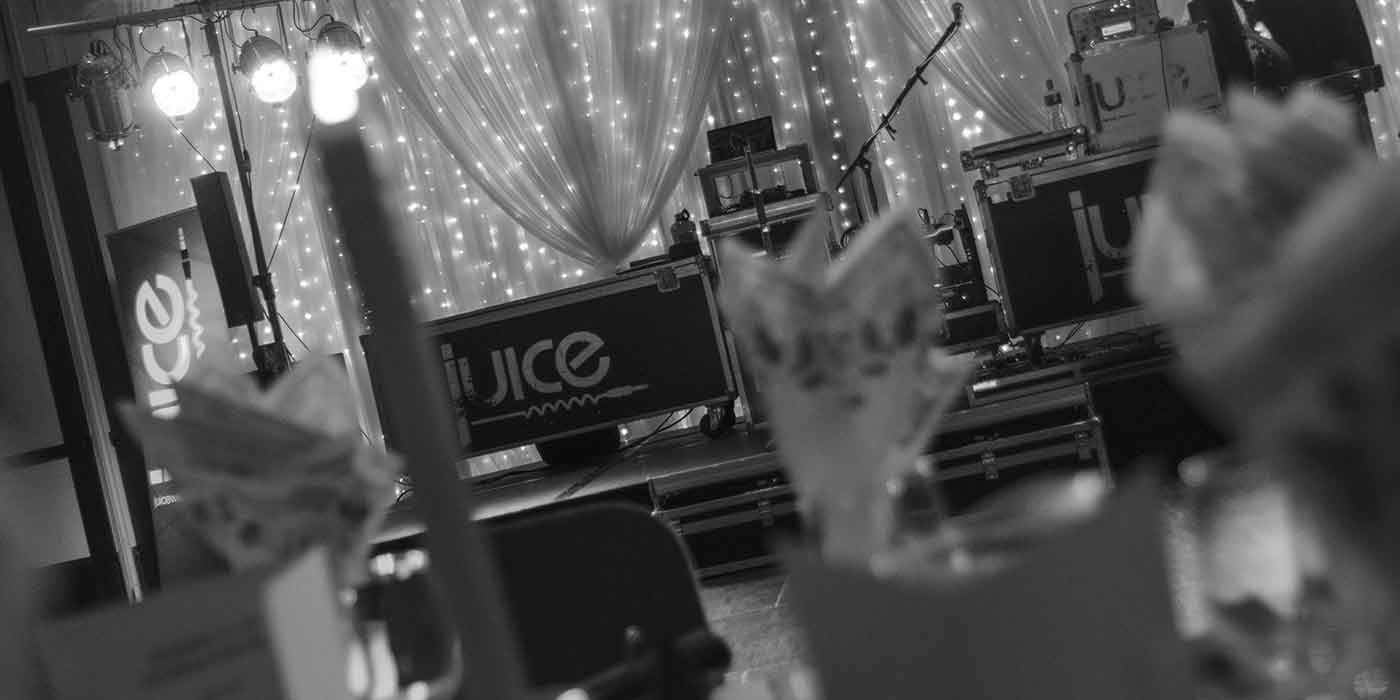 Photo of the Juice stage setup in the Roe Park Resort Limavady Christmas 2015