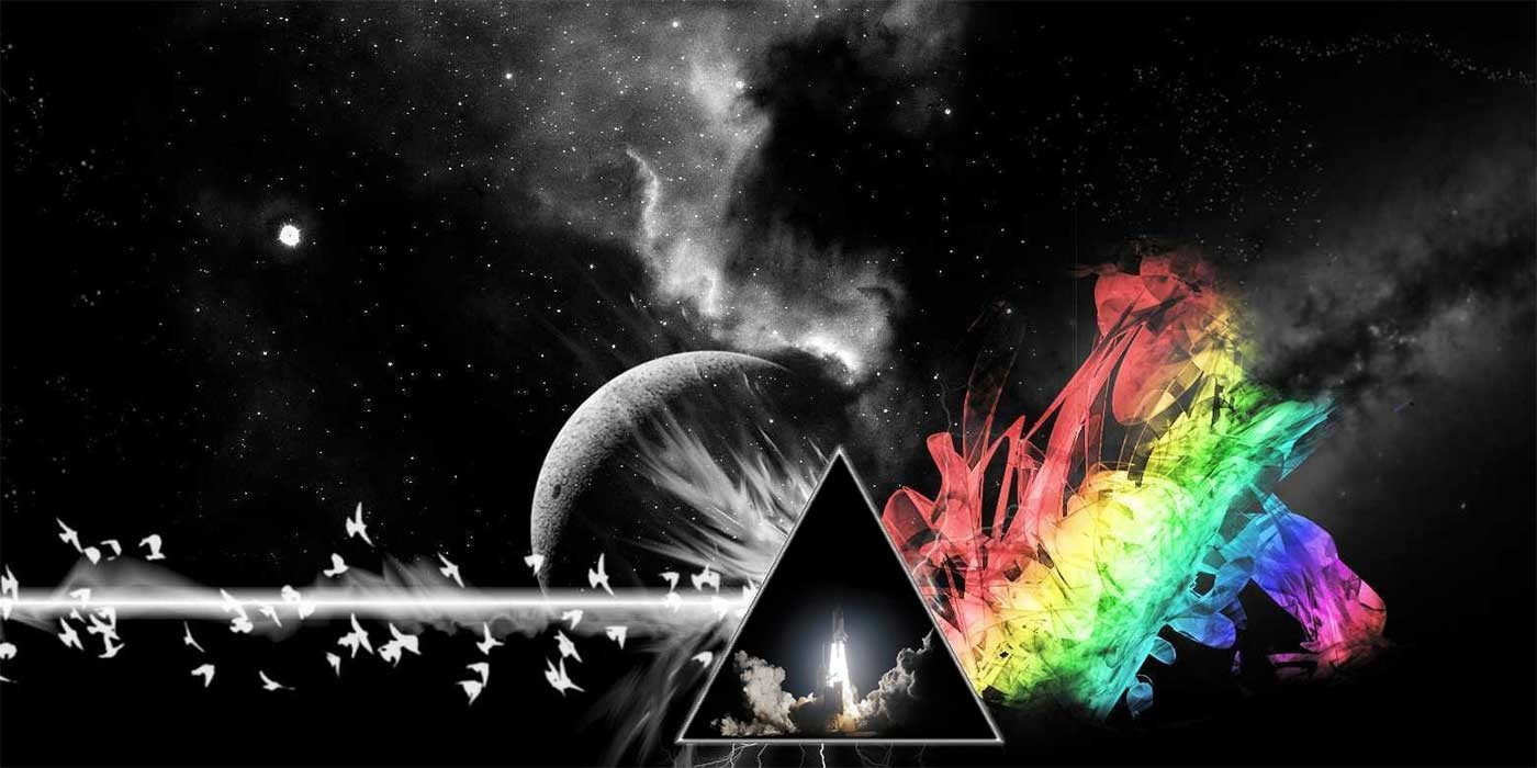 Photo of a Pink Floyd collage