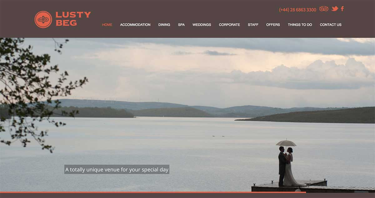Screenshot of the Lusty Beg Island Fermanagh website