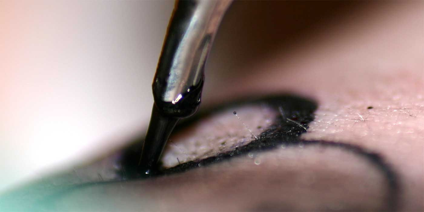 Photo of a tattoo needle