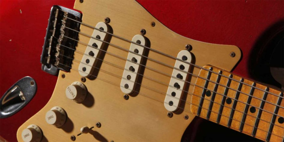 Photo of a Red Fender Stratocaster
