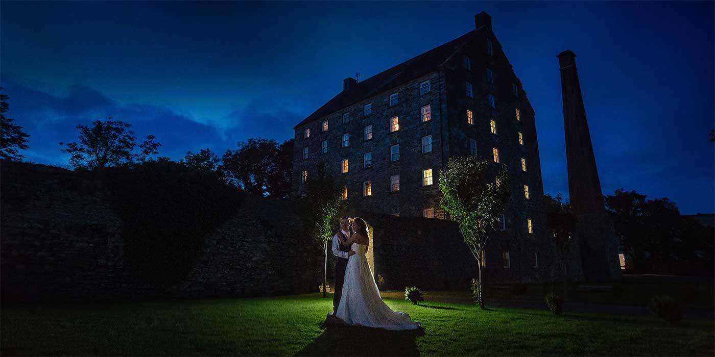 Photo of Ballydugan Mill at night taken by Chris Huston photography