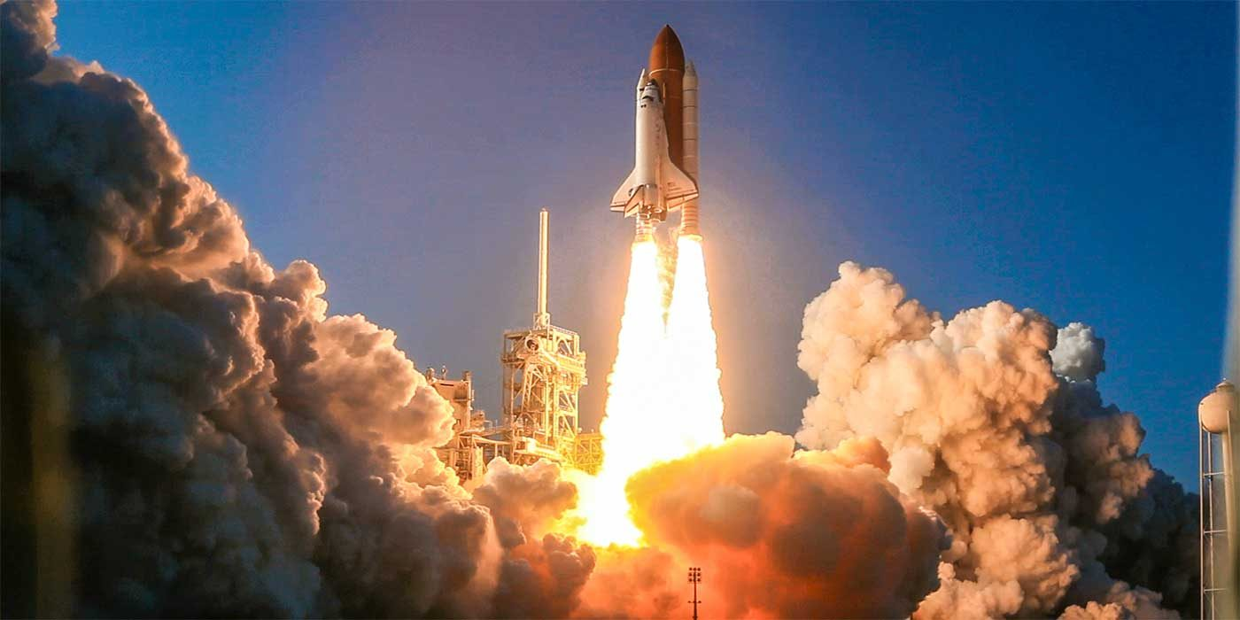 Photo of a rocket launch
