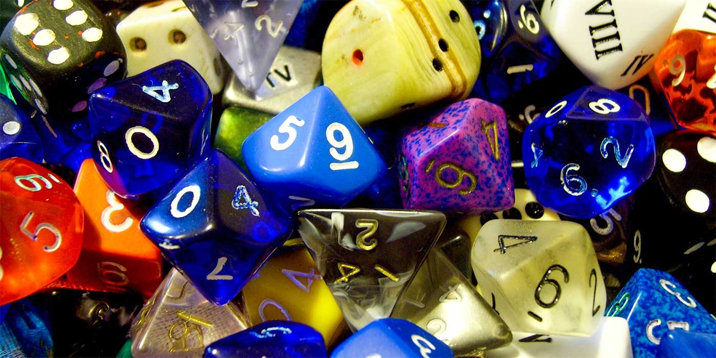 Photo of assorted dice with numbers