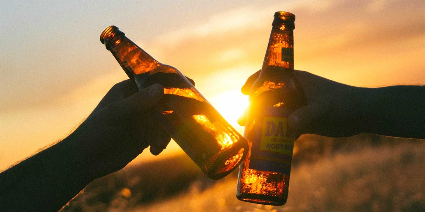 Photo of two beer bottles