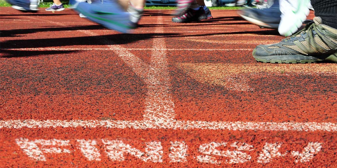 Photo of a finish line