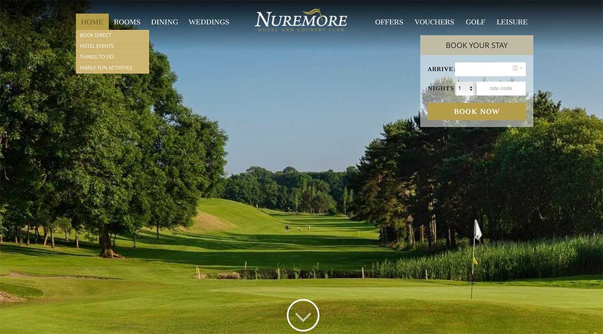 Screenshot of the Nuremore Hotel and wedding venue Carrickmacross County Monaghan