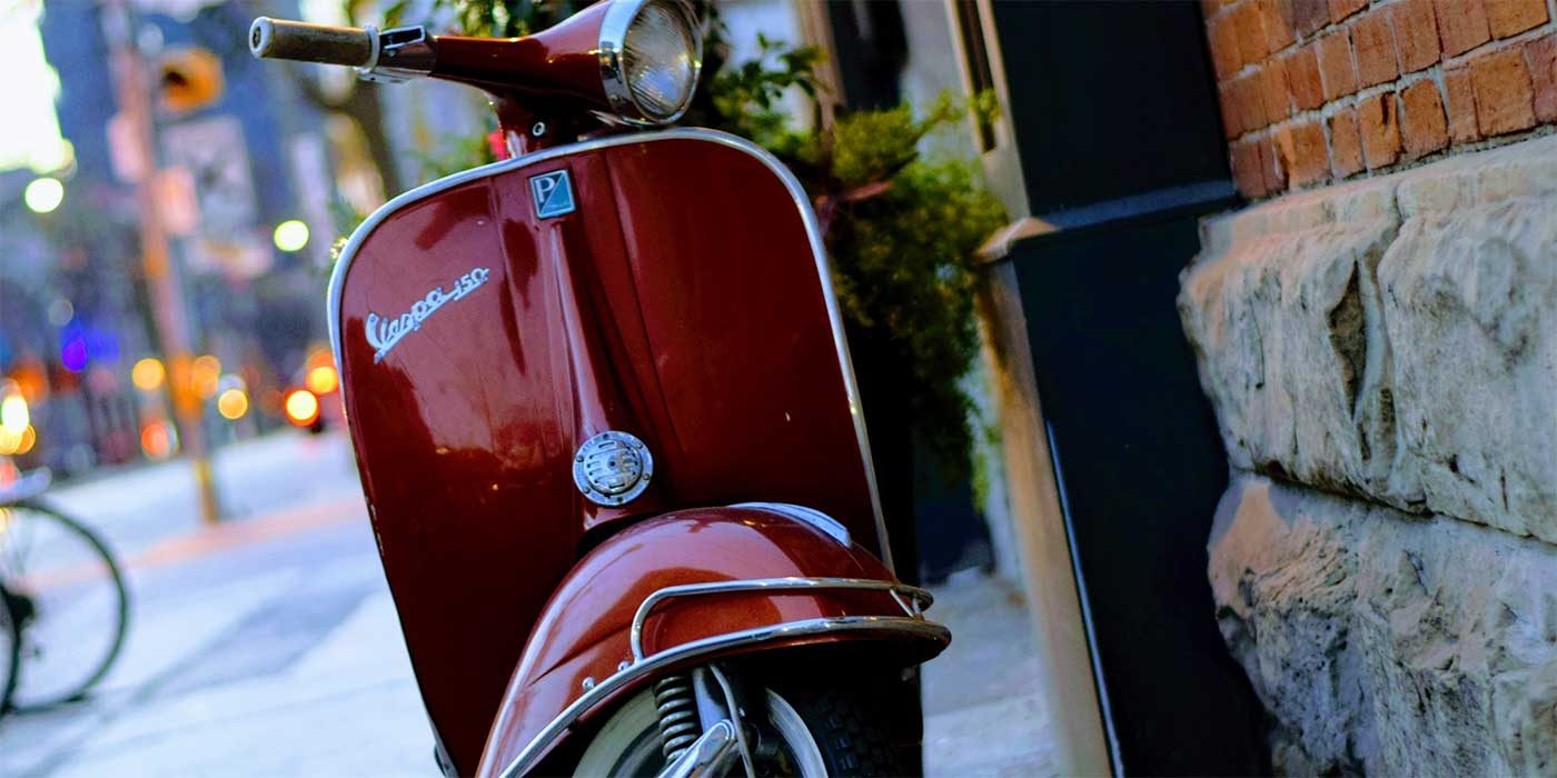 Photo of a Vespa scooter