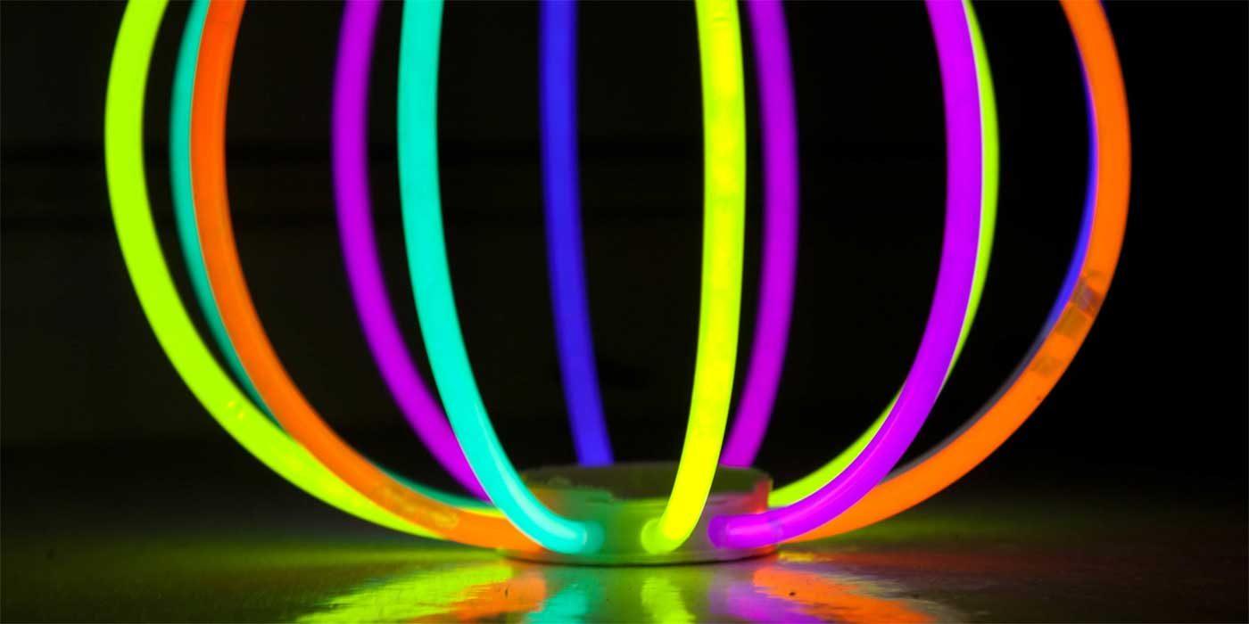 Photo of some glow sticks
