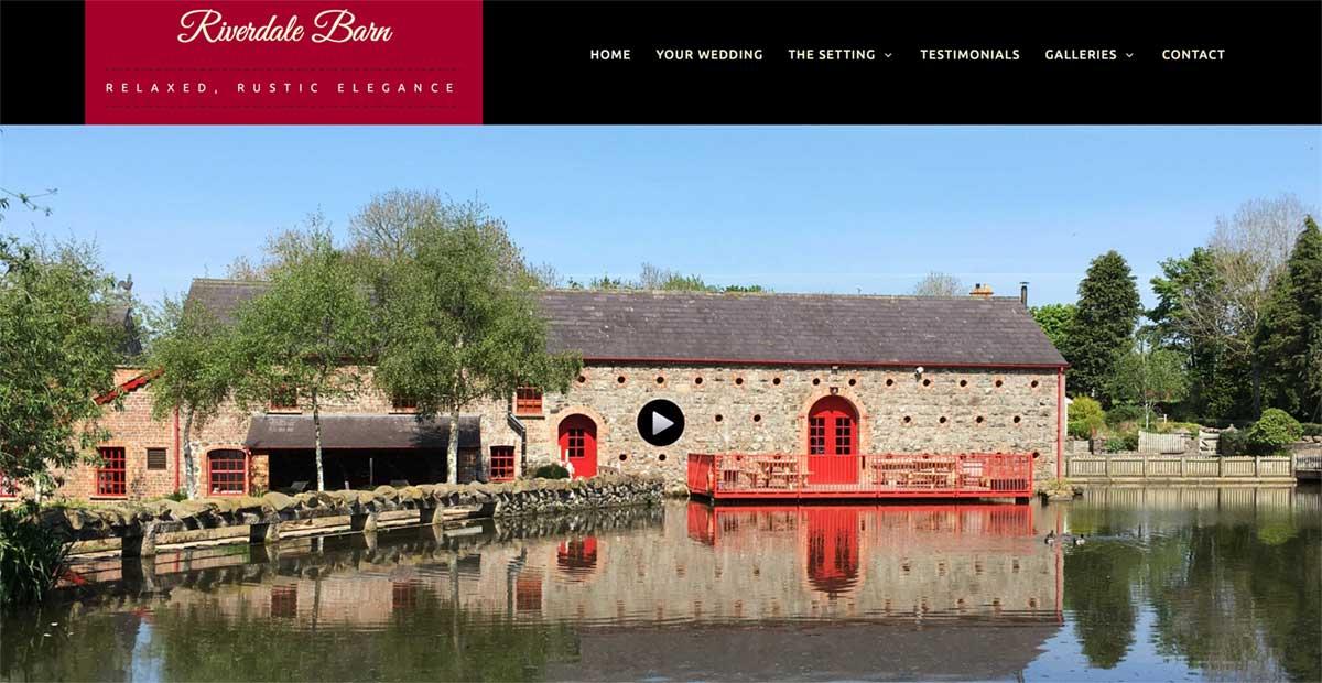 Screenshot of the Riverdale Barn Wedding Venue Aghagallon Craigavon website