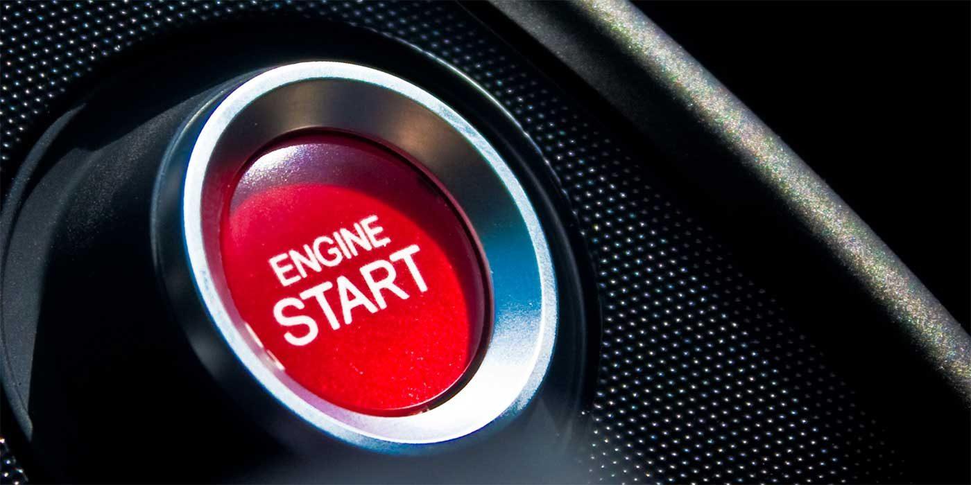 Photo of an engine start button