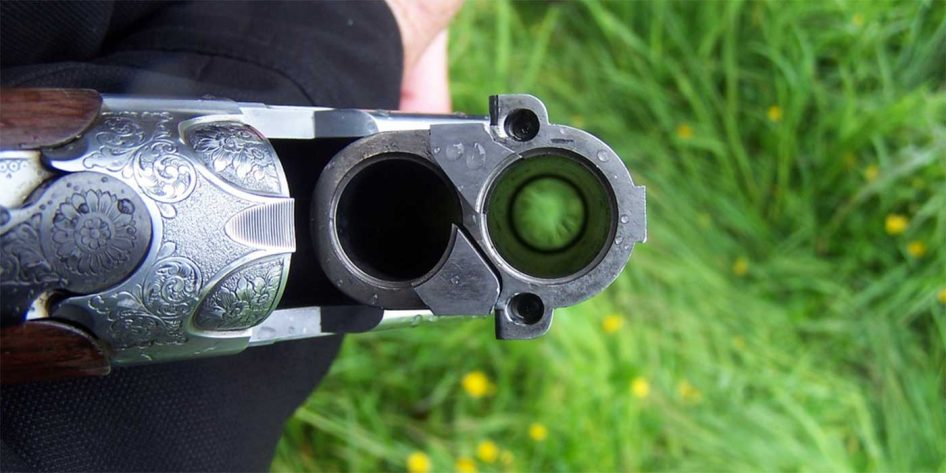 Photo of an open shotgun barrel