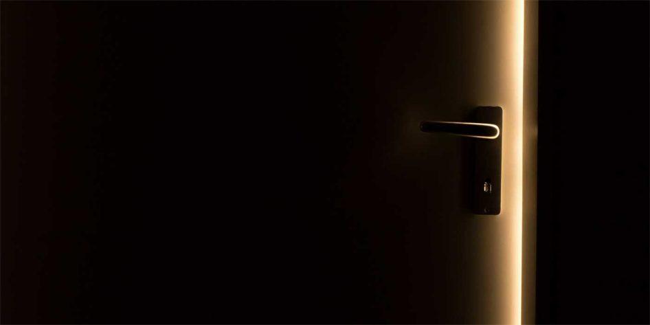 Photo of light shining through a doorway