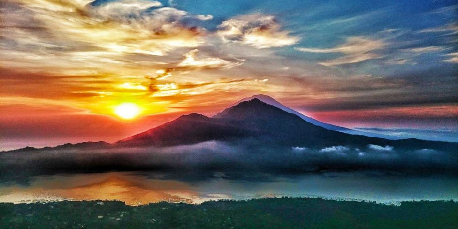 Photo of Mount Agung in Bali
