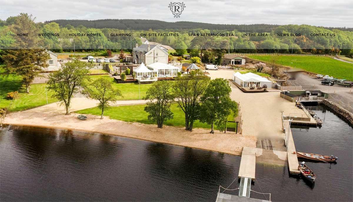 Screenshot of the Rossharbour Wedding Resort Fermanagh website