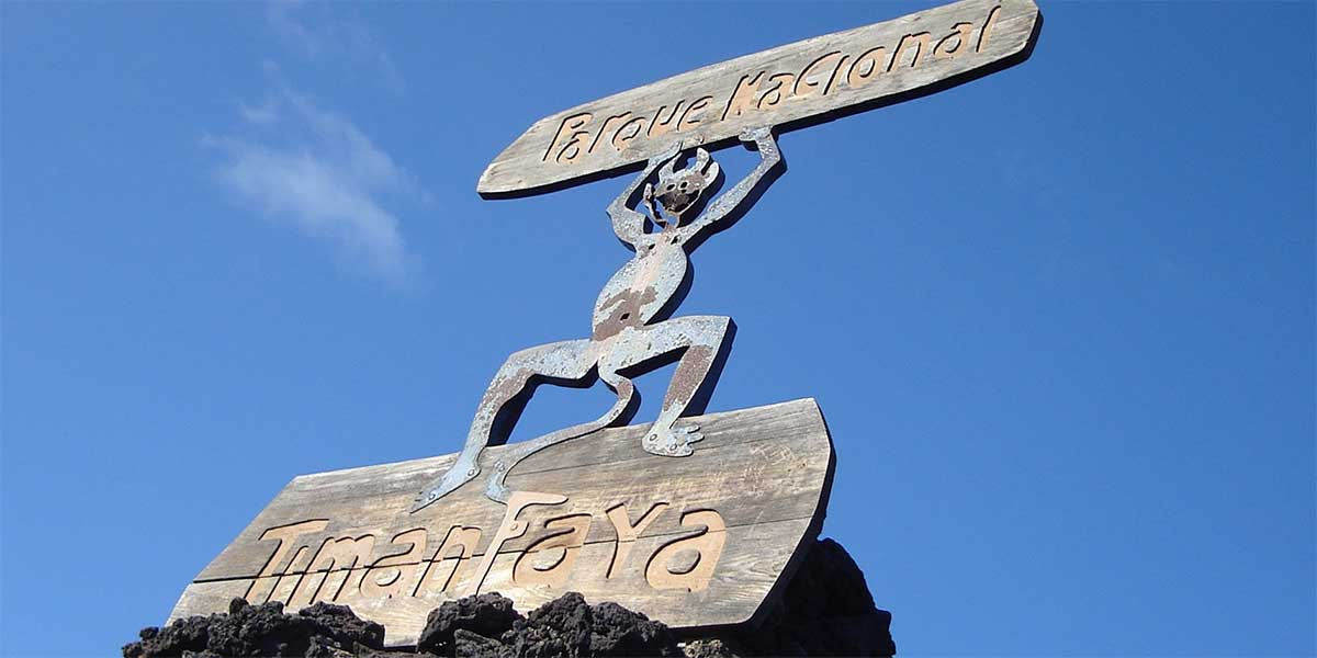 Photo of the entrance sign to the Parque Nacional do Timanfaya in Lanzarote
