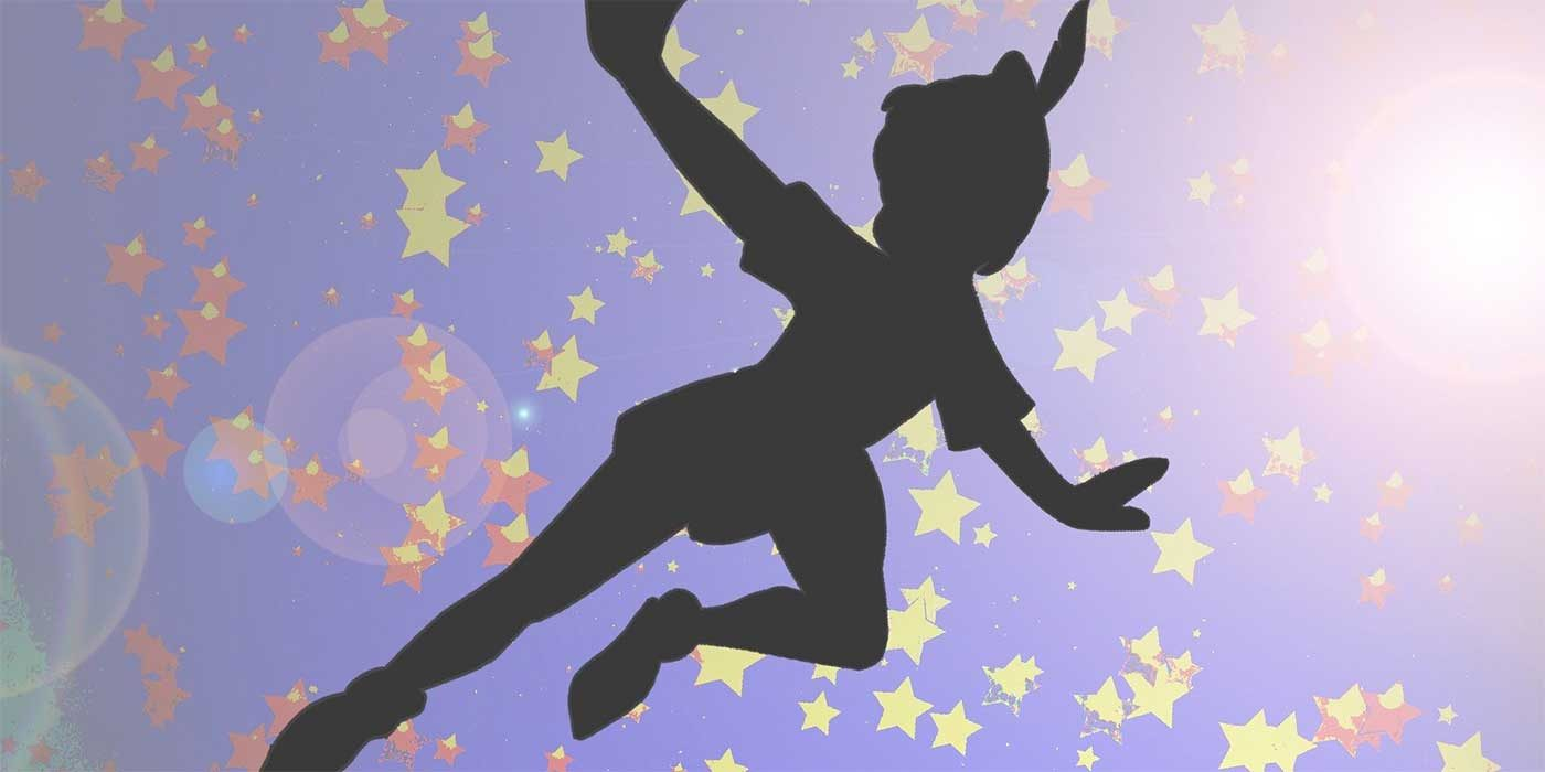 Drawing of Peter Pan flying to Neverland