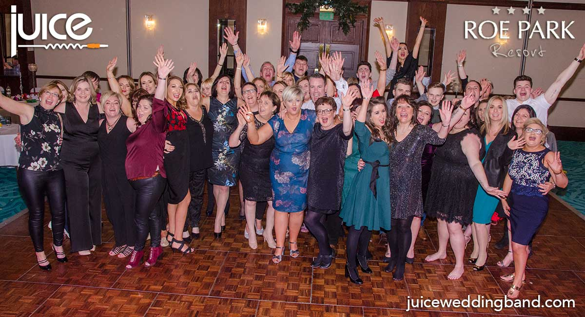 Photo of the guests at the Roe Park Resort Limavady Christmas party