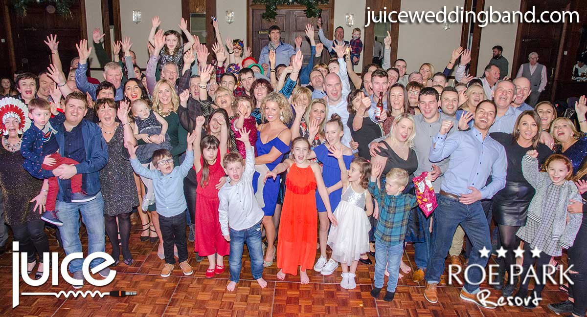 Photo of some of the guests from the Roe Park Resort Limavady New Years Eve party