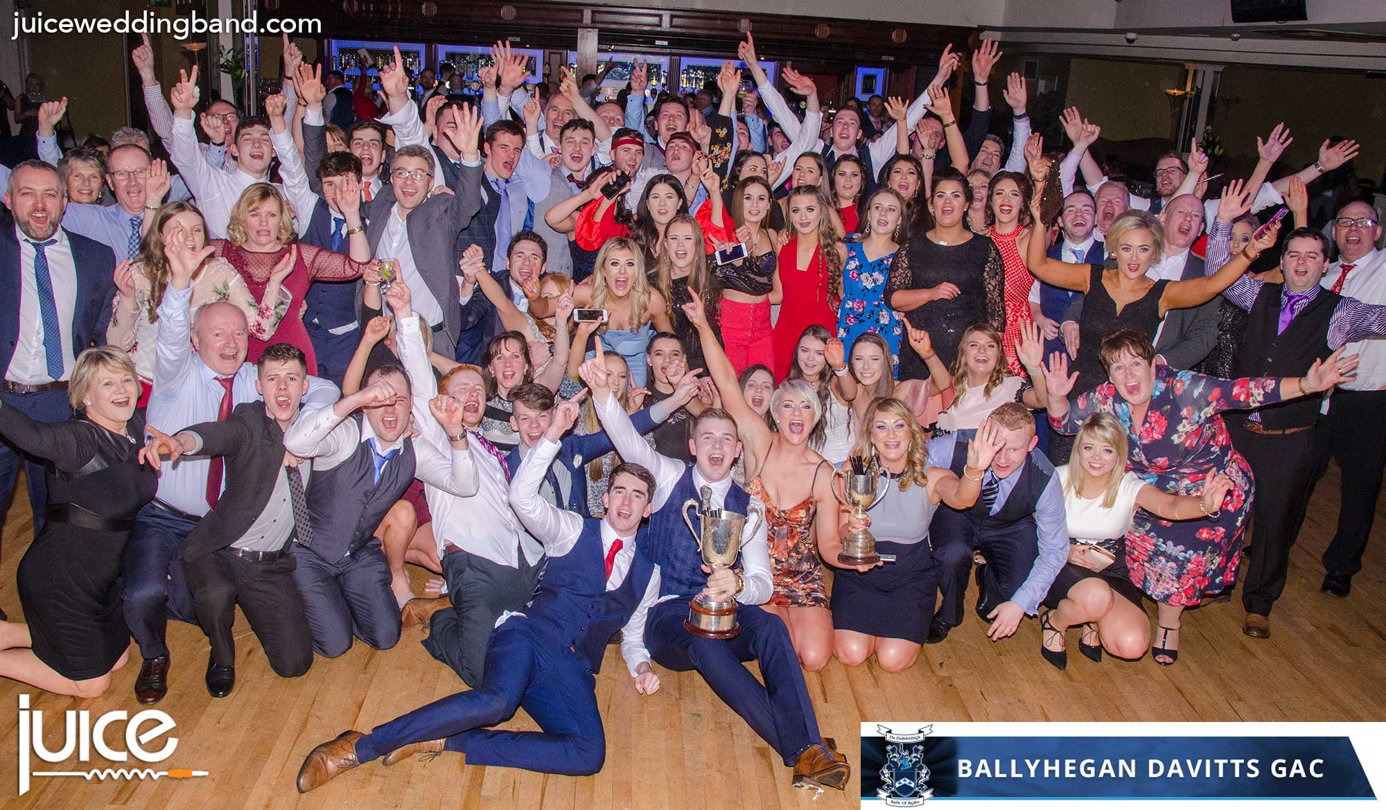 Photo of the guests at the Ballyhegan Davitts GAC dinner dance