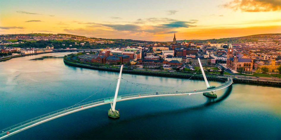 Photo of the Peace Bridge in Derry City