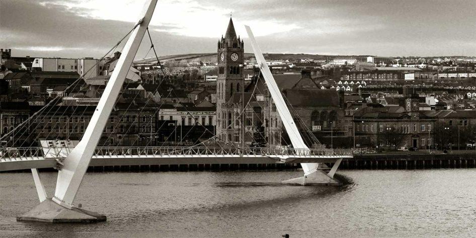 Photo of the Derry Peace Bridge