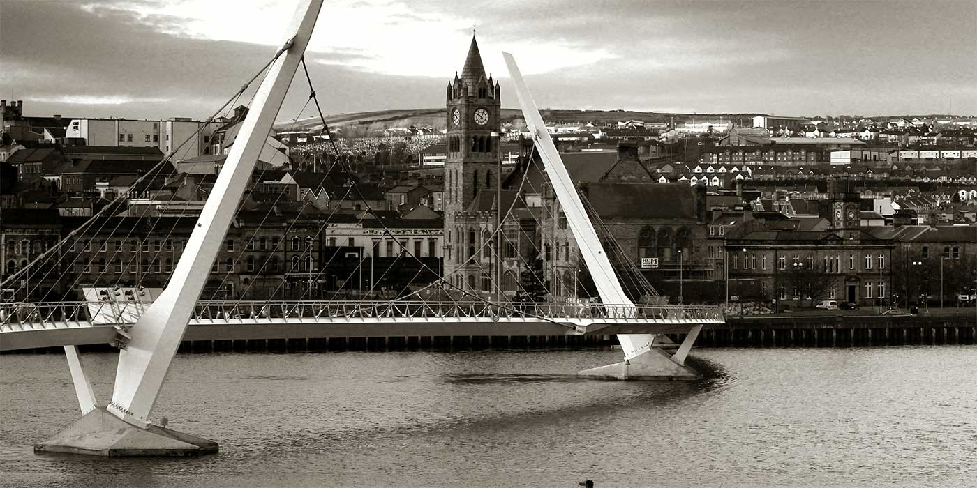 Photo of the Derry Peace Bridge