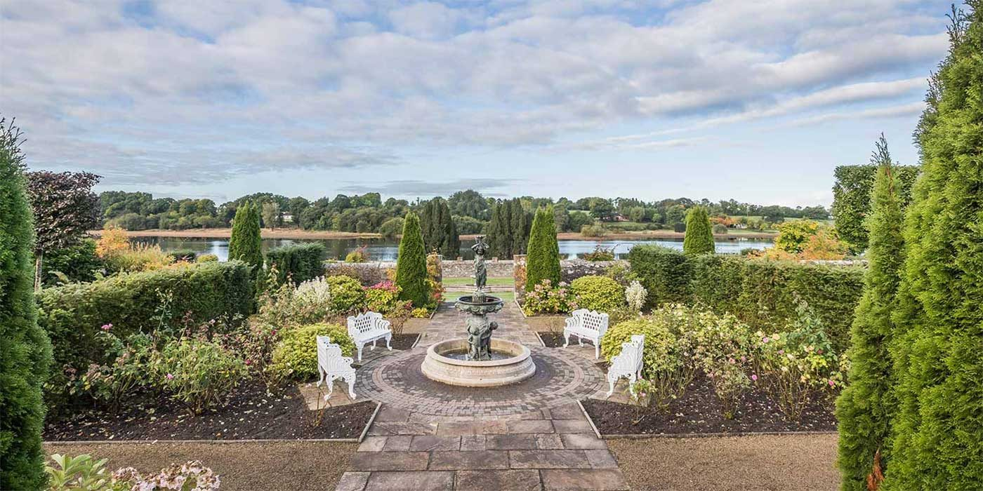 Photo of the gardens at Lough Rynn Castle Mohill