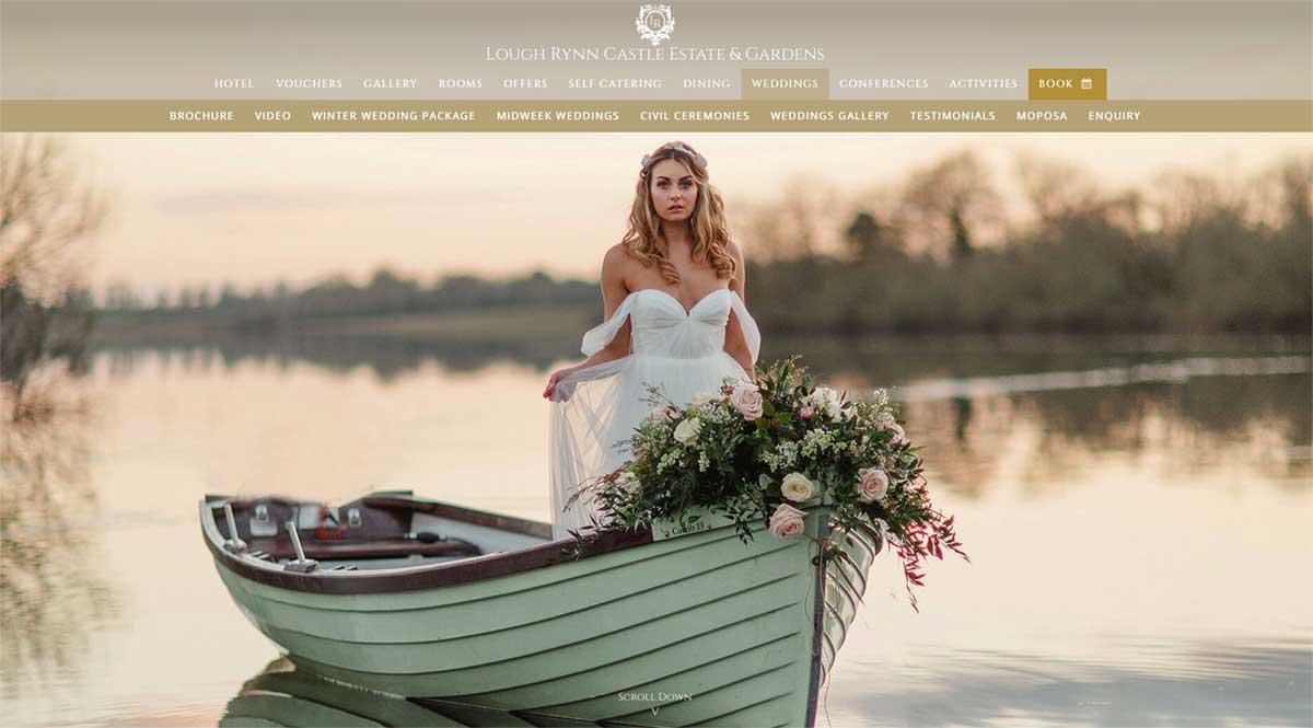 Screenshot of the Lough Rynn Castle Leitrim website