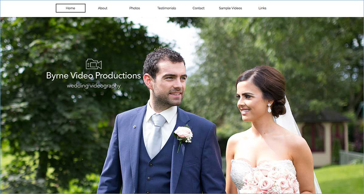 Screenshot of the Byrne Video Productions Portglenone website