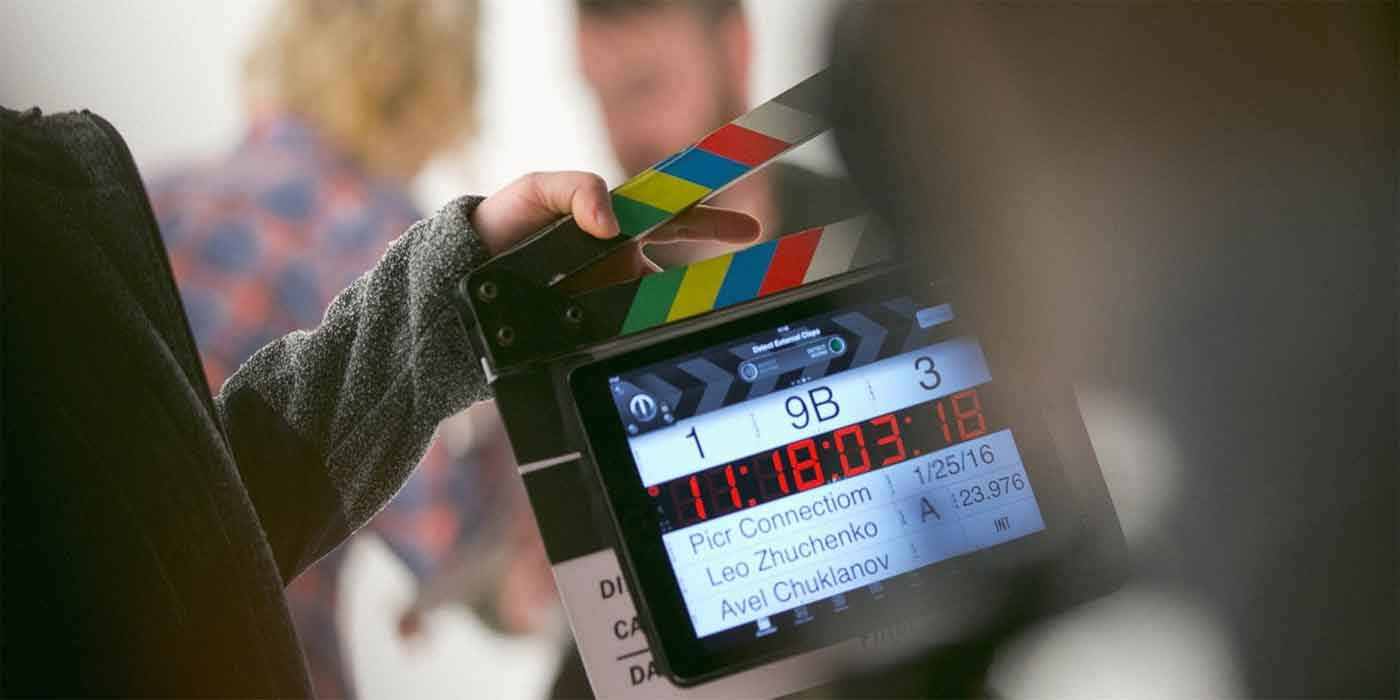 Photo of a clapperboard
