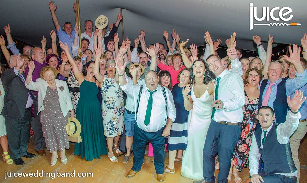 Photo of Claire, Damien and their guests at our French wedding