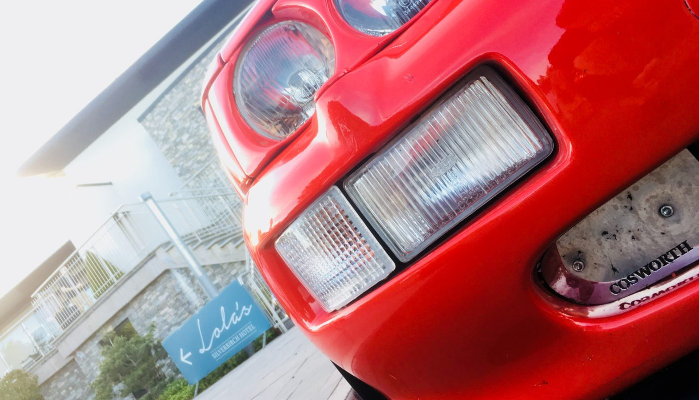 Close up photo of an Escort Cosworth